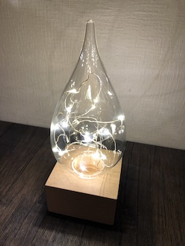 しずく型ガラスのおしゃれでおすすめの間接照明