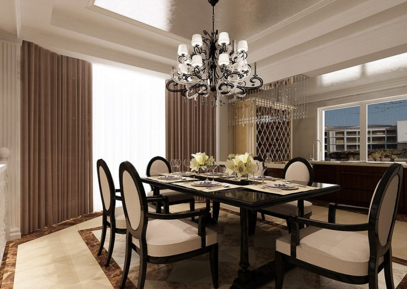 choosing a right chandelier for dining room interior style 77 Choosing The Right And Fitting Dining Room Table id=41911