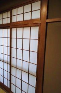 和室の障子の前に遮光カーテン施工(京都市伏見区)