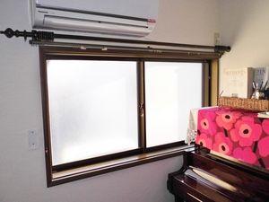 ピアノ室 カーテンをプリーツスクリーンに取替