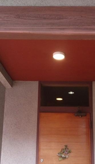 玄関ポーチ照明の取替(京都市伏見区)