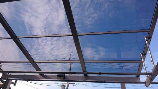 新築ベランダにテラス屋根工事(京都市)