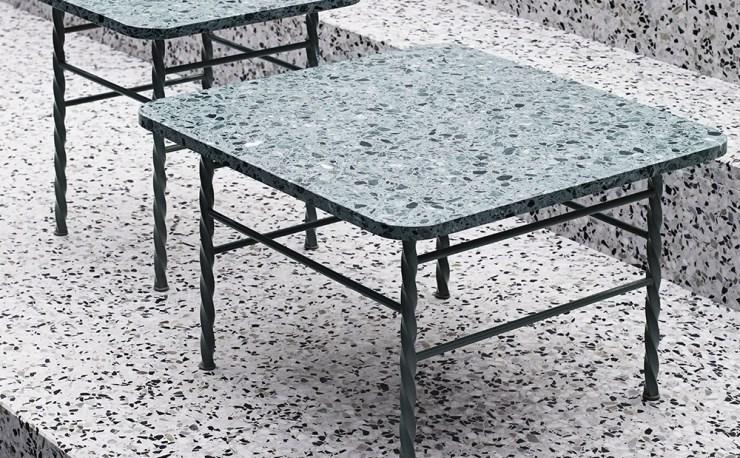 Terrazzo side table simon legald design furniture