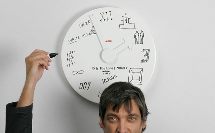 amazing wall clock designs by alessi