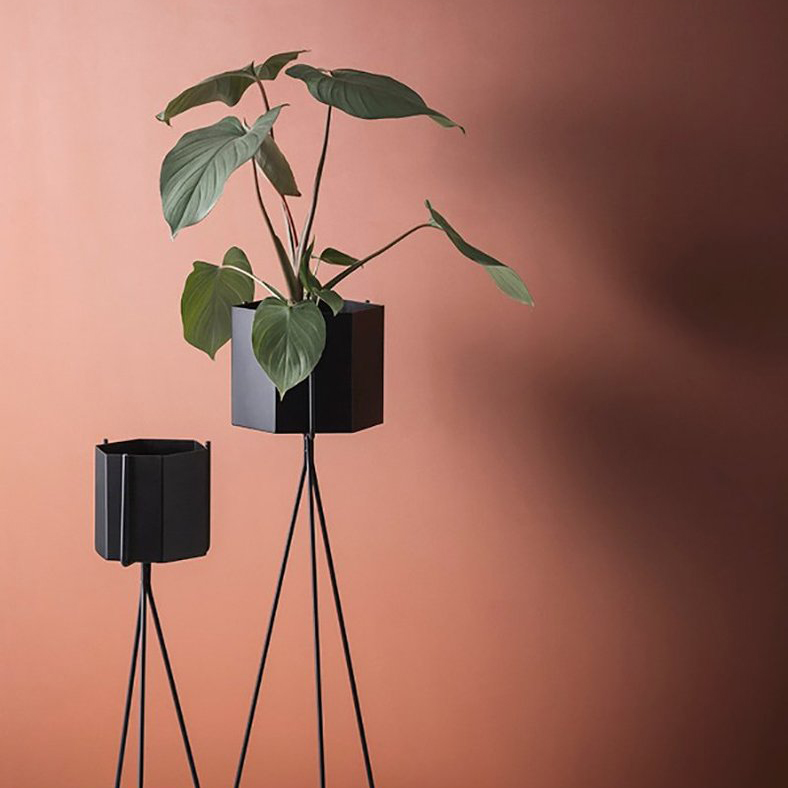 Lift your House Plants Higher – Plant Stand Design with Hexagon Planter for ferm Living