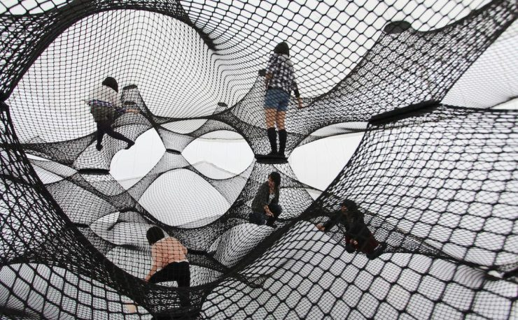Rope and Net Art Installations by the Design Collective Numen/For Use, Scenography, interior3000 Design Blog, interior Design, Furniture Design, Art Installation