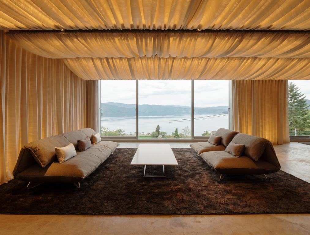 The Perfect Interior Design Combination of Wood and Fabric - WE Hotel at Lake Toya in Japan by