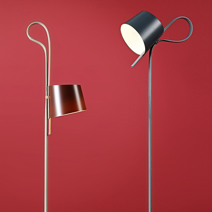 A Pretty Flexible Lamp – Rope Trick Floor Light Design by Stefan Diez for HAY