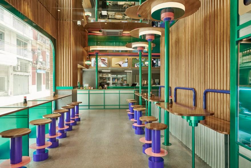 Kento Japanese Restaurants in Valencia, Spain by Design Office Masquespacio