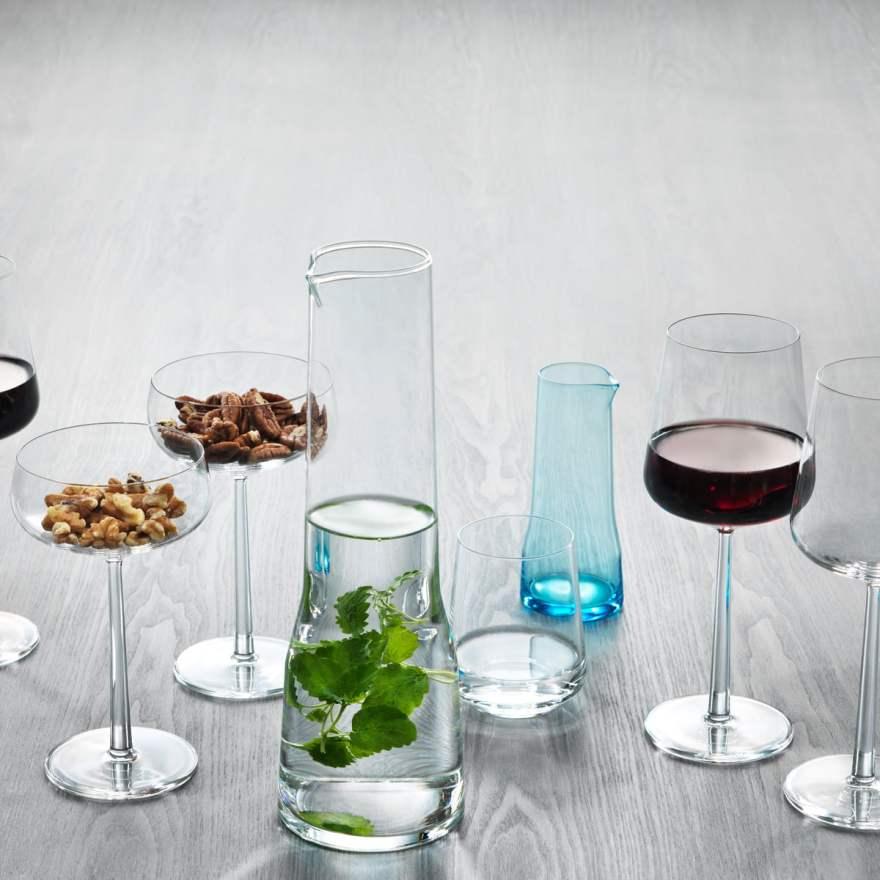The Elegant Essence Glass Pitcher by Swiss Designer Alfredo Häberli for Finnish Design House Iittala
