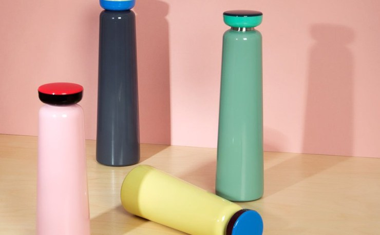 The Perfect Colorful Drinking Bottle Design - Sowden Bottle Designed by George Sowden for HAY Interior 3000 Design Blog Interior Design Furniture Design