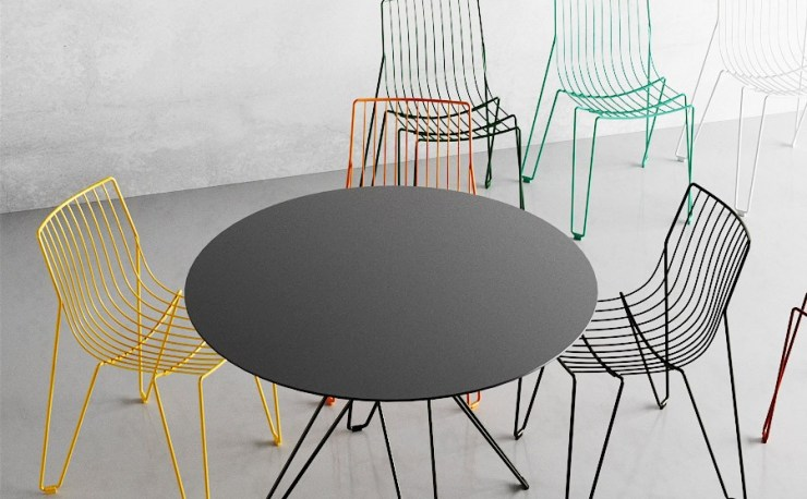 Elegant and Stackable Steel Wire Tio Chair Design by Chris Martin and Magnus Elebäck for Massproductions Interior 3000 Design Blog, Interior Design, Furniture Design