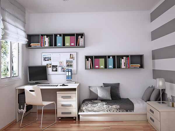 Функциональные зоны в маленькой комнате