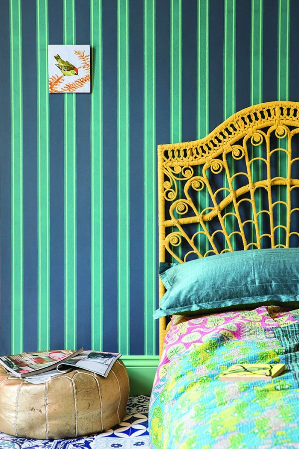 farrow ball striped wallpaper