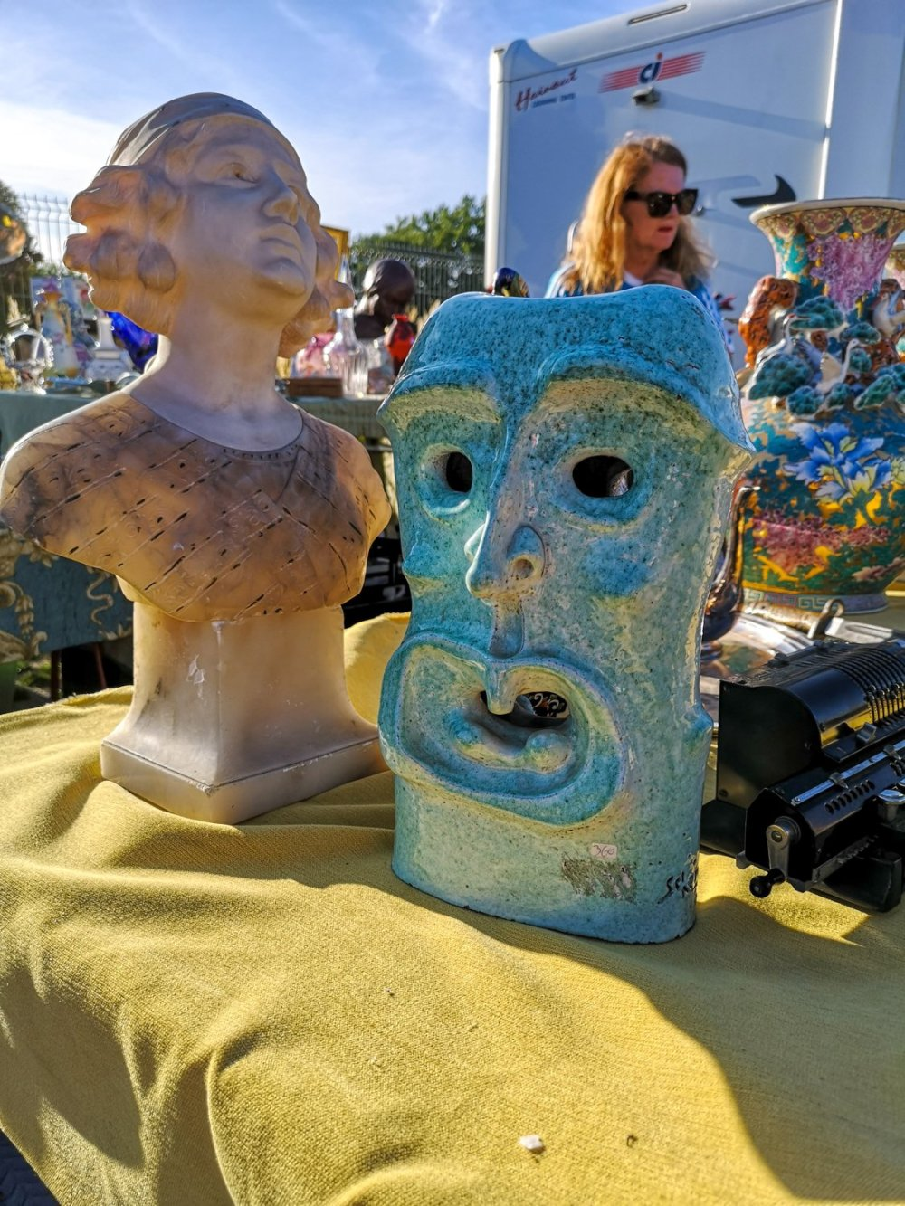 Ceramic statue at the braderie de lille