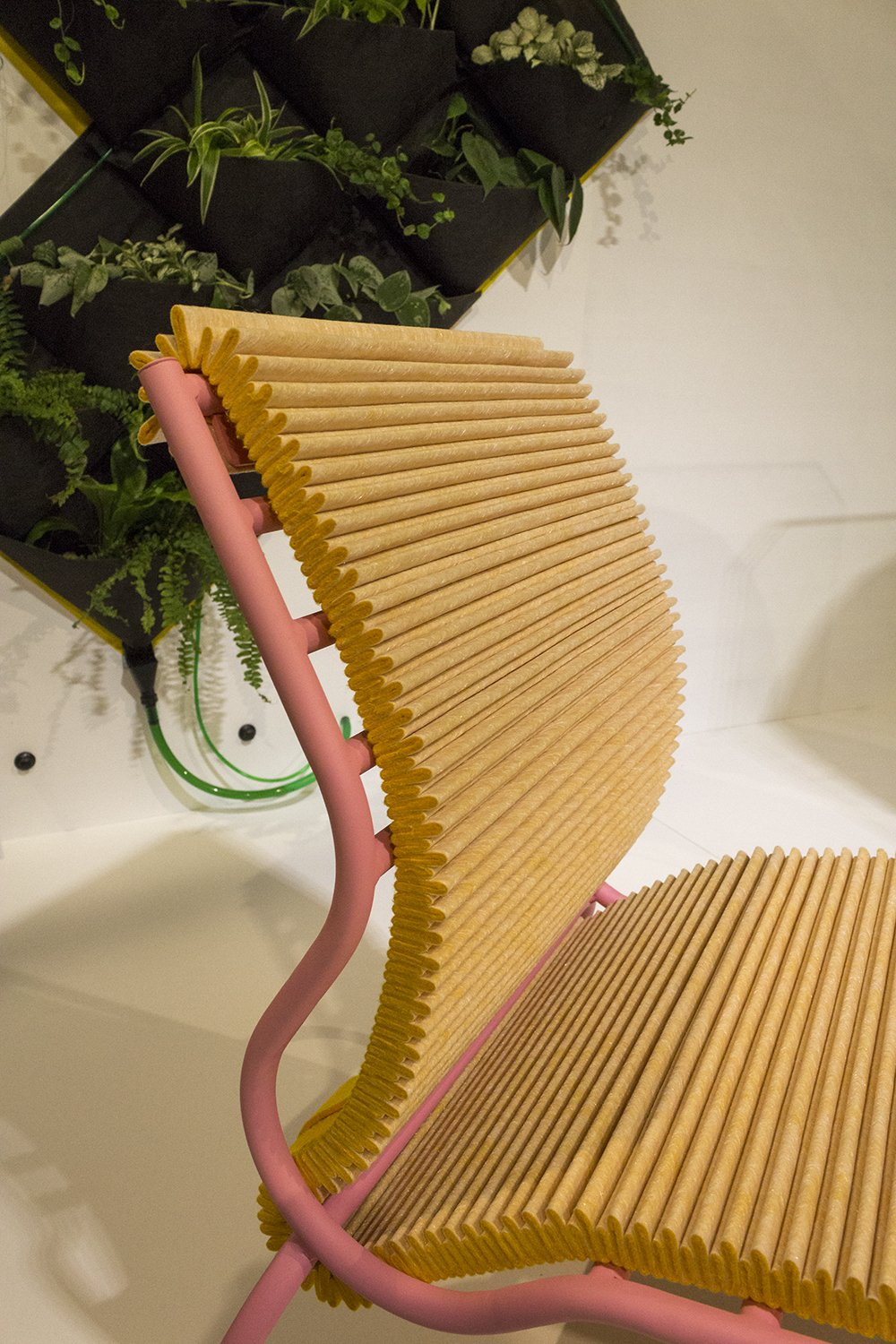 Joris de Groot Pleated Seat at Object Rotterdam /// More on Interiorator.com