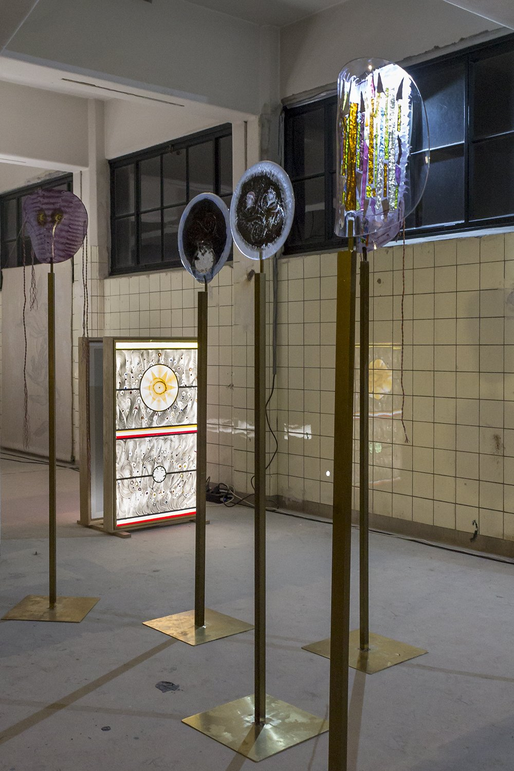 Glass crucifixes by Marc Mulders and Jan Koen Lomans at Object Rotterdam /// More on Interiorator.com