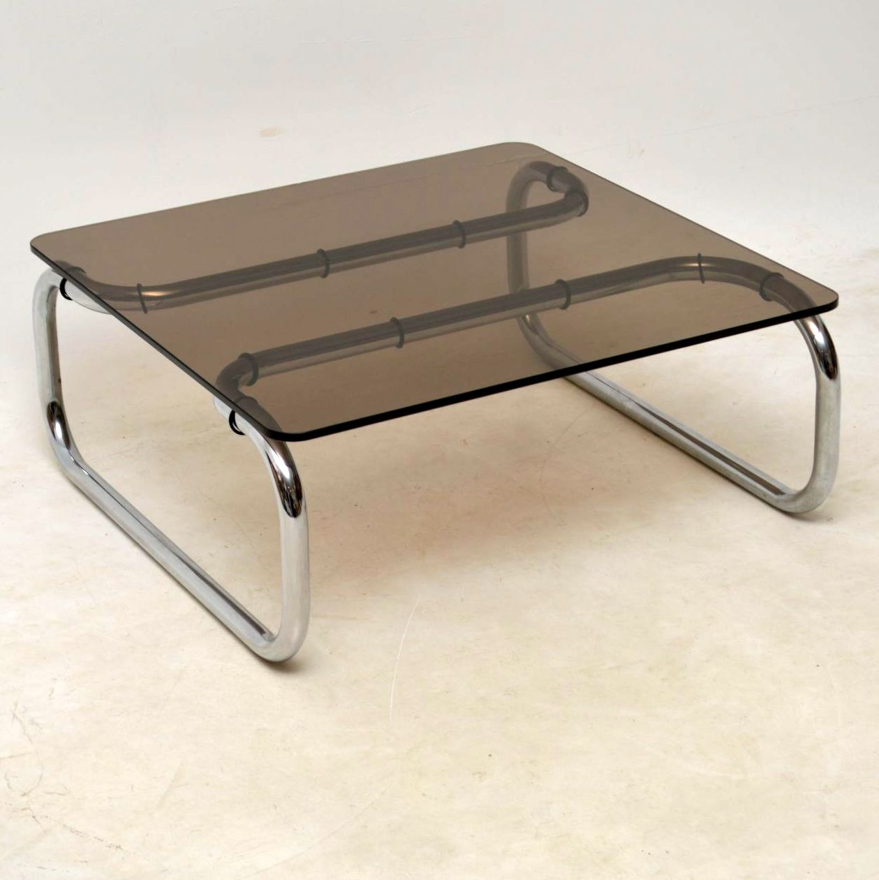 1960 S Chrome Glass Vintage Coffee Table By Rodney Kinsman