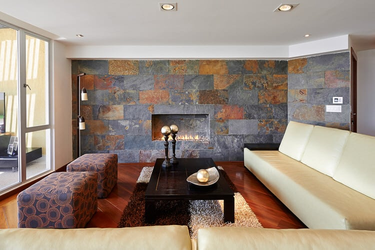30 Gorgeous Living Rooms With Stone Walls (PICTURES