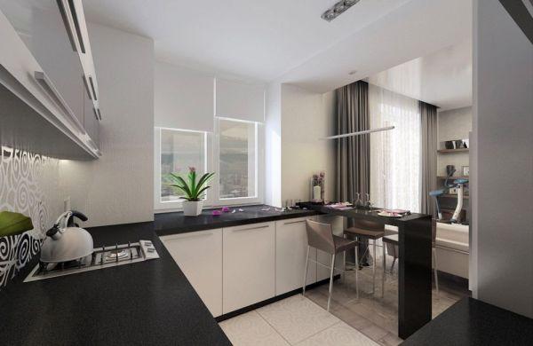 Дизайн небольшой кухни-гостиной 30-40 кв м с примерами
