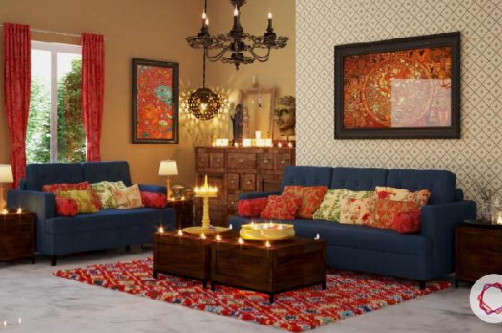 gaya desain interior india