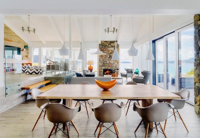desain interior ruang makan gaya modern