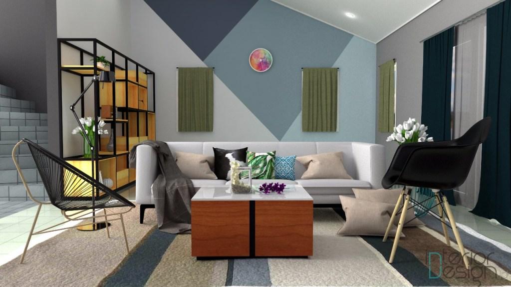 jasa desain interior bandung; desain ruang tamu rumah Dago