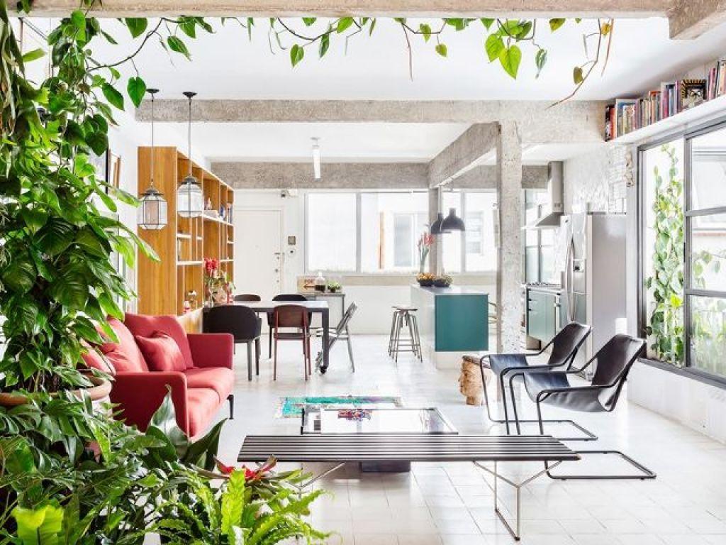 desain dan dekorasi ruang tamu lantai terbuka 3