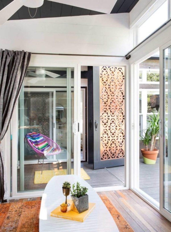 desain rumah kecil yang fungsional; desain entry way