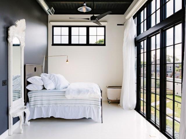 desain langit-langit kamar tidur, gaya industrial