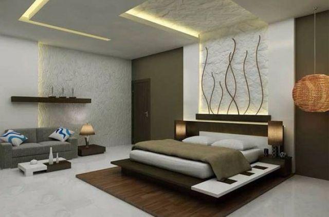 desain langit-langit kamar tidur, gaya modern