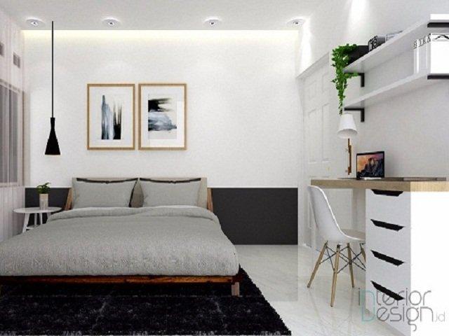 Desain kamar monokrom kamar tidur putih hitam yang anti for Dekor kamar tidur hotel