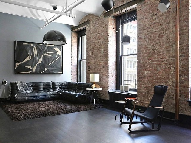 desain apartemen studio industrial