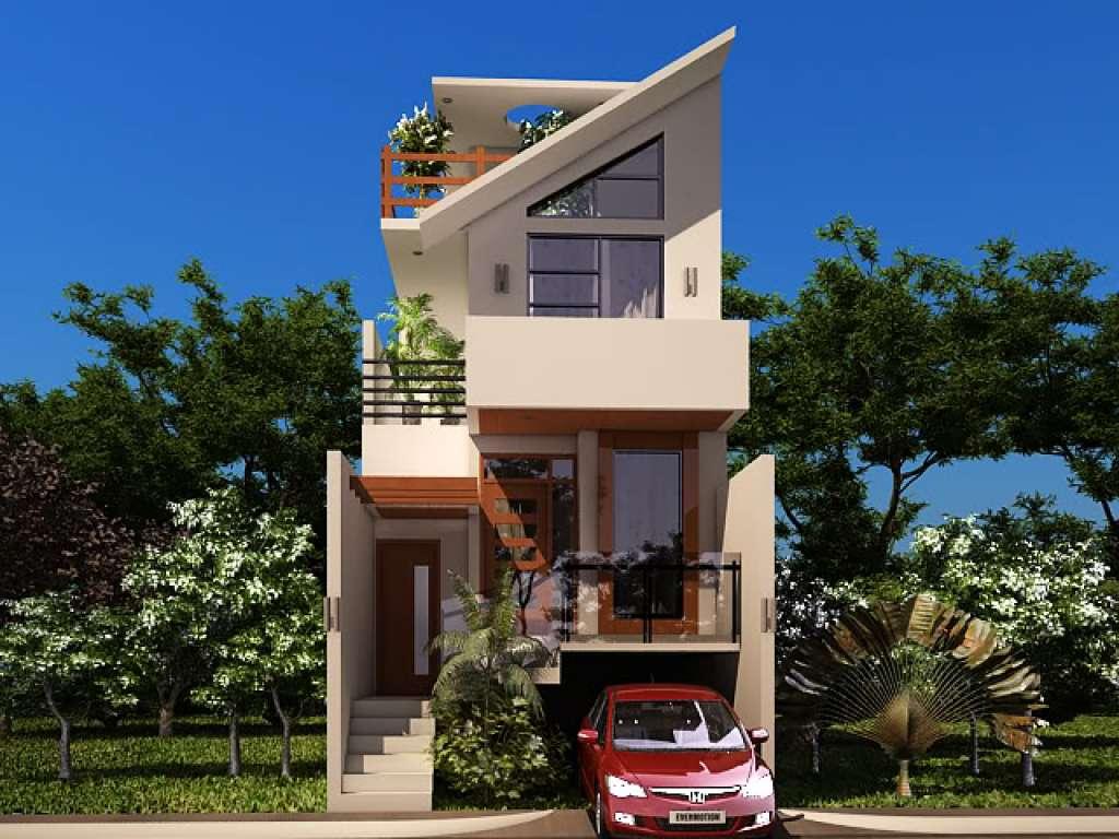 desain interior rumah; desain rumah kecil dengan underground car port