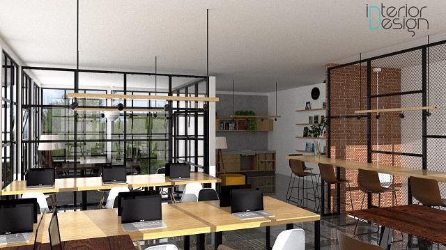 desain ruang kantor minimalis 1