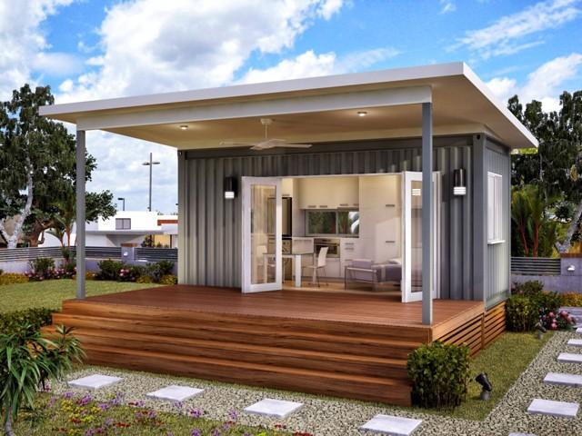4 Desain Rumah Kontainer Modern Minimalis Rumah Kecil Sederhana yang Unik dan Menarik & 4 Desain Rumah Kontainer Modern Minimalis Rumah Kecil Sederhana ...