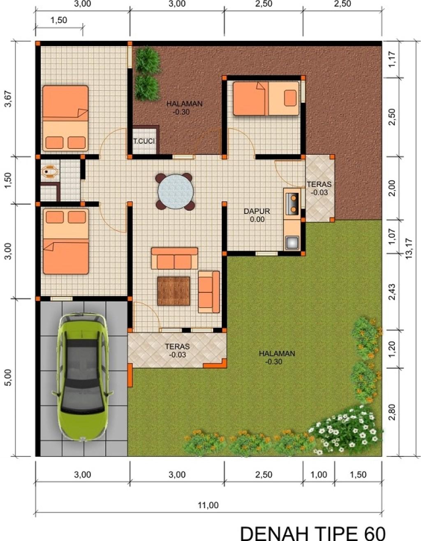 Desain Rumah Tipe 60 Hunian Nyaman Dan Ideal Untuk Keluarga