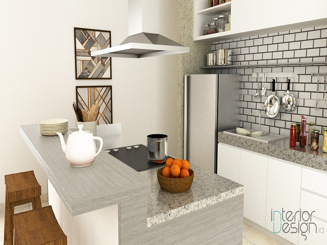 desain kitchen set custom