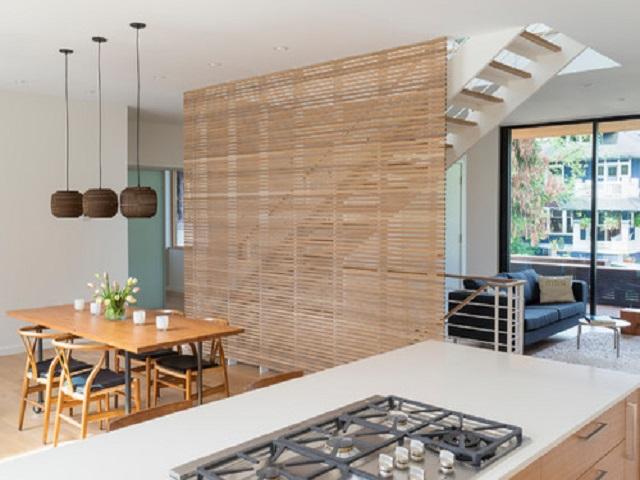 interior dapur dan ruang makan japandi