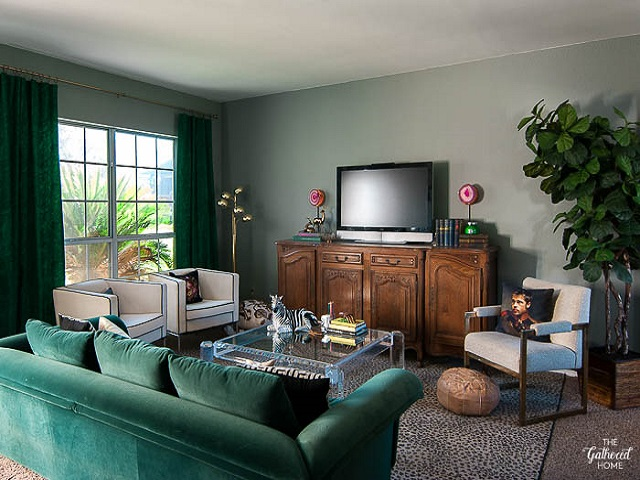 ruang keluarga eklektik