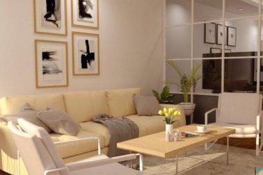 ruang tamu rumah type 45