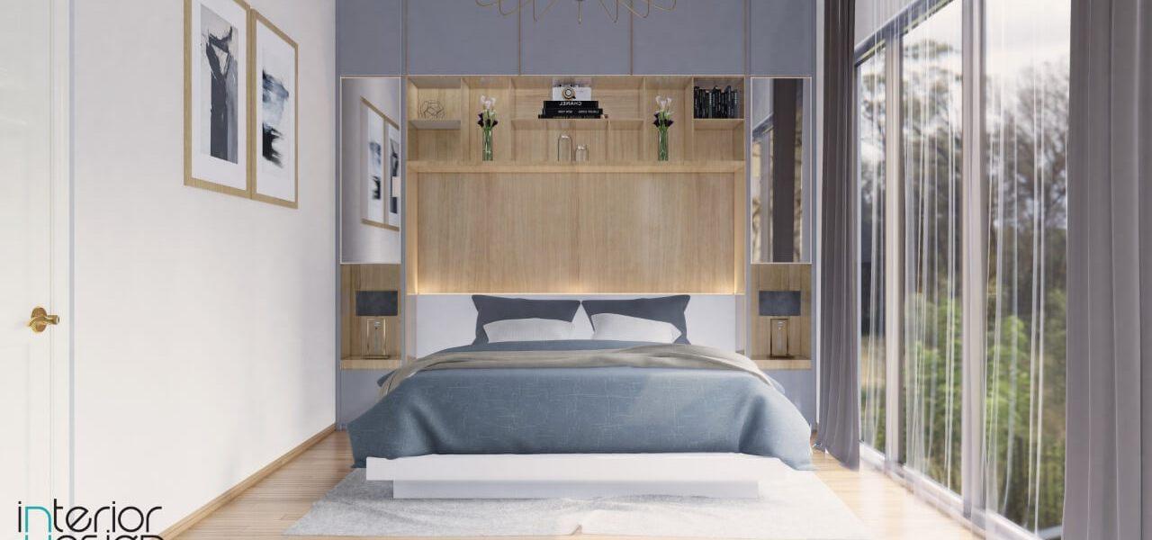 Desain kamar tidur gaya modern