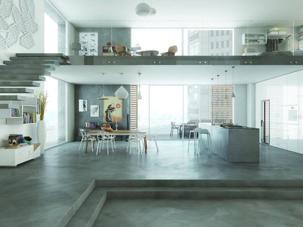 desain lantai plester