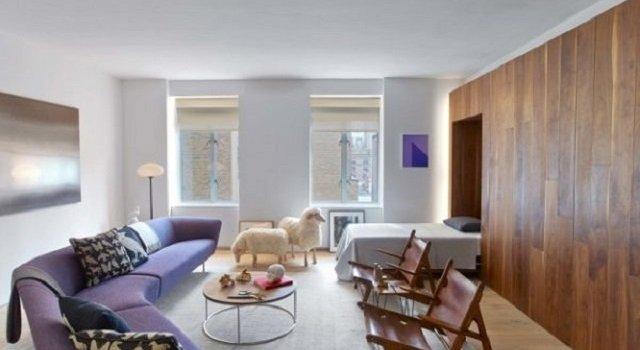 interior apartemen studio gaya art deco