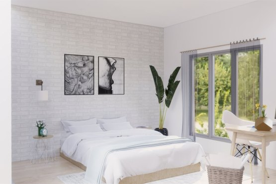 desain kamar tidur skandinavia