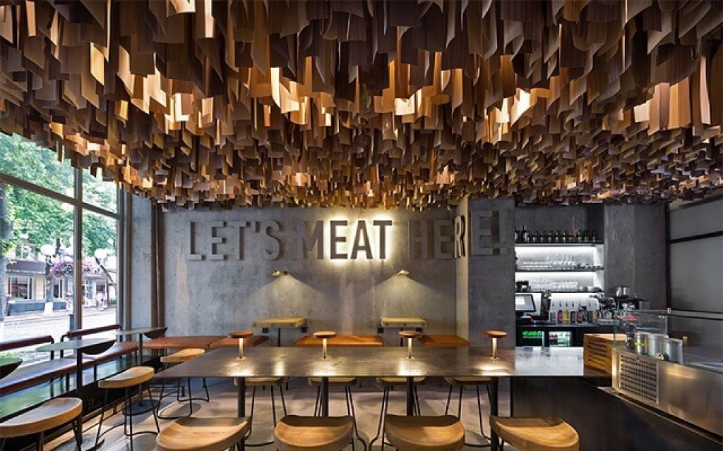 desain pencahayaan cafe