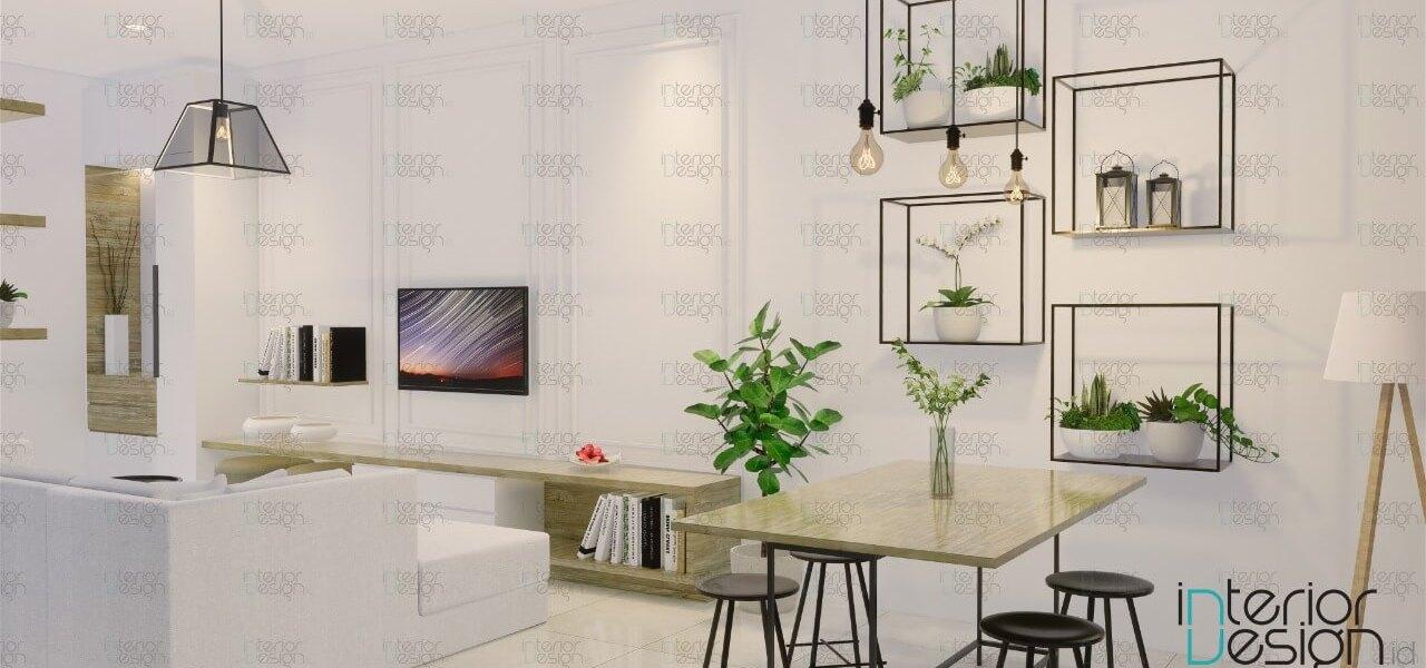 Desain ruang keluarga skandinavia
