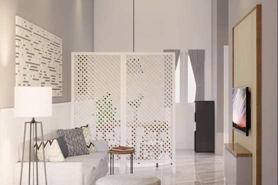 Ruang keluarga rumah minimalis