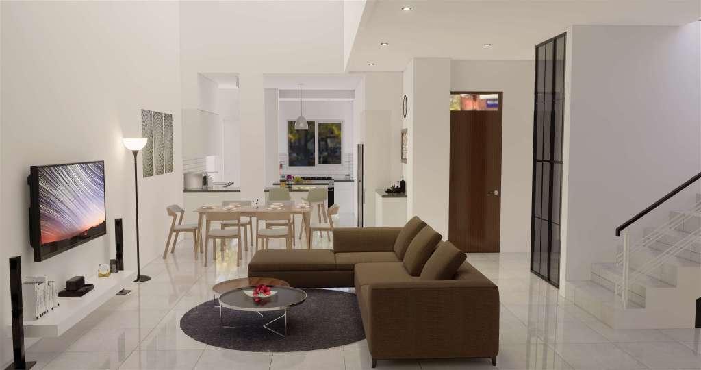 ruang keluarga gaya klasik modern