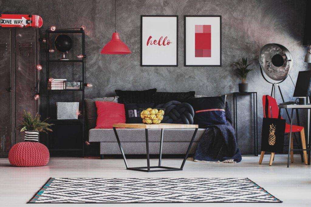 ruang keluarga dengan tema valentine
